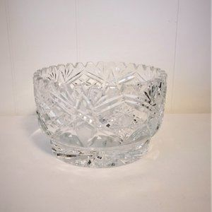 "ABP Heavy Incised 6"" Decorative Crystal Bowl"